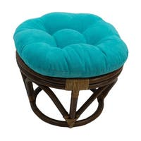 International Caravan Bali Papasan Footstool with Microsuede Cushion