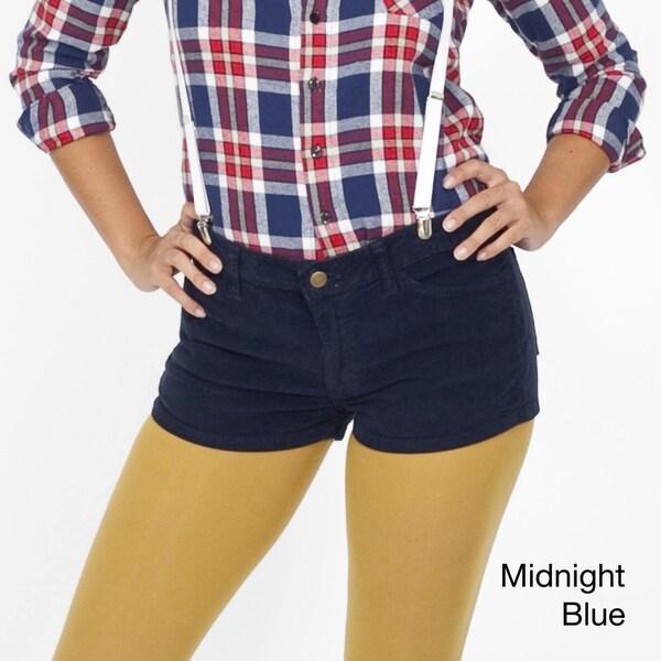 American Apparel Women's Corduroy Short Shorts