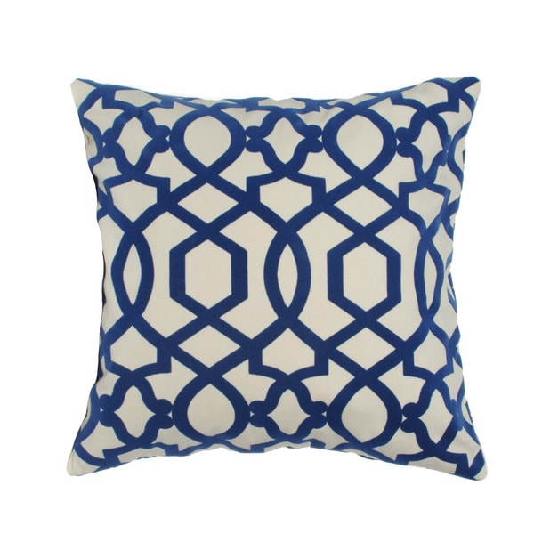 Trellis Hampton Royal Blue 20-inch Decorative Pillow - Free Shipping Today - Overstock.com ...