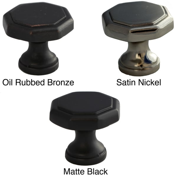 GlideRite Hexagon 1.125-inch Cabinet Knobs (Pack of 10)