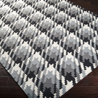 Hand-woven Thatcher Houndstooth Wool Rug