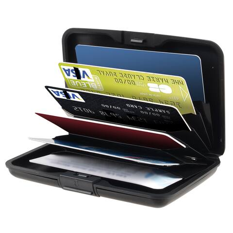 Zodaca Black Fit Up to 30 Business Cards Aluminum Universal Card Phone Case Cover
