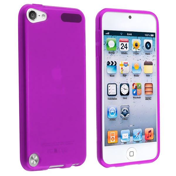 Insten Purple TPU Rubber Candy Skin Matte Case Cover For Apple iPod Touch 5th/ 6th Gen