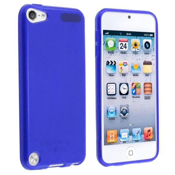 INSTEN Blue TPU Rubber Skin iPod Case Cover for Apple iPod touch Generation 5