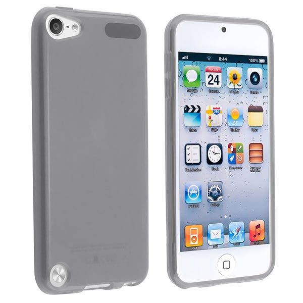 Insten Smoke Clear TPU Rubber Candy Skin Glossy Case Cover For Apple iPod Touch 5th/ 6th Gen