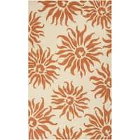 Hand-hooked Destin Indoor/Outdoor Floral Rug