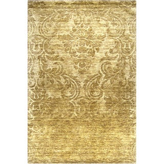 Hand-crafted Solid Casual Viking Wool Rug