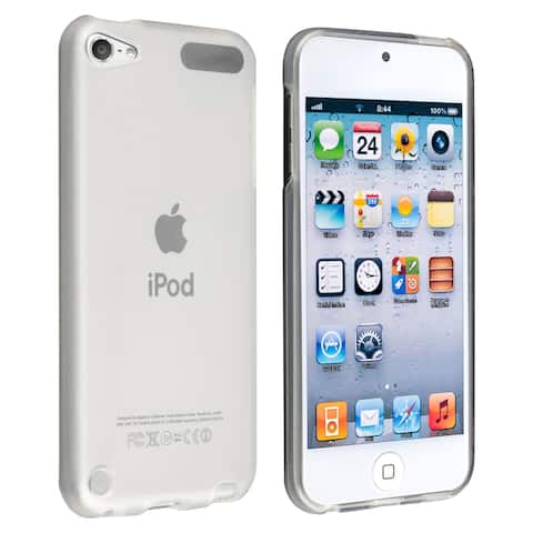 Insten White Clear TPU Rubber Candy Skin Glossy Case Cover for Apple iPod Touch 5th/ 6th Gen/ 7th Gen