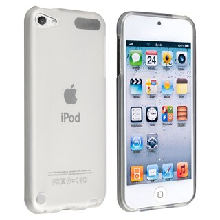 Insten White Clear TPU Rubber Candy Skin Glossy Case Cover For Apple iPod Touch 5th/ 6th Gen