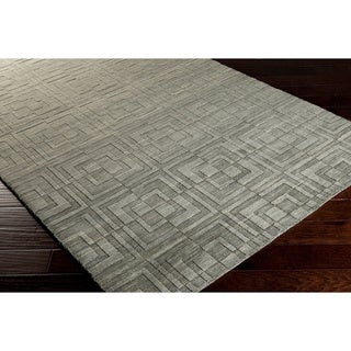 Hand-crafted Solid Casual Chandler Wool Rug