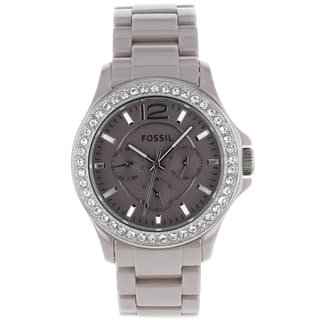 Fossil Women's CE1063 'Riley' Chronograph Beige Ceramic Watch|https://ak1.ostkcdn.com/images/products/7499998/P14942286.jpg?impolicy=medium