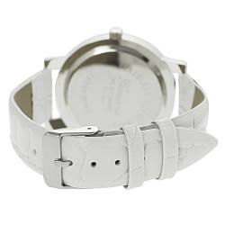 Geneva Platinum Women's Rhinestone Crocodile Pattern Strap Watch - Thumbnail 1