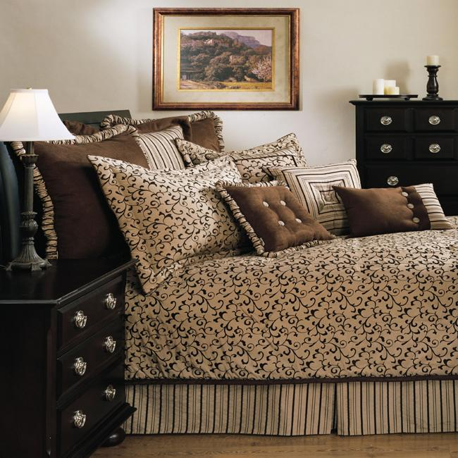 Sherry Kline Belacour Latte 4-piece Comforter Set