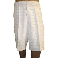 Ashworth Men's Flat Front Plaid Shorts - Thumbnail 1
