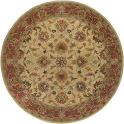 Hand-tufted Vault Beige Wool Rug (6' Round)