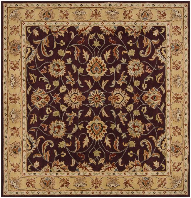 Hand-tufted Casa Plum Wool Rug (6' x 6')