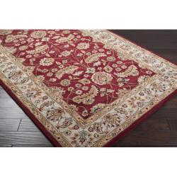 Hand-tufted Kaiser Red Wool Rug (6' x 9') - Thumbnail 1
