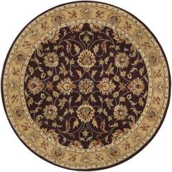 Hand-tufted Casa Plum Wool Rug (9'9 Round)
