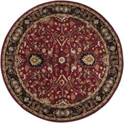 Hand-tufted Hellenic Red Wool Rug (9'9 Round)