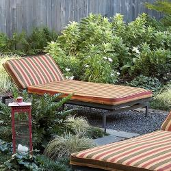 Alyssa autumn stripe adjustable outdoor chaise with for Alyssa outdoor chaise