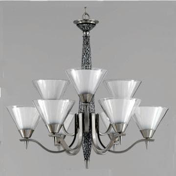 XO 9-light White Mosaic Chandelier