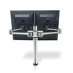 Visidec US Government Compliant dual display desk LCD/LED monitor art
