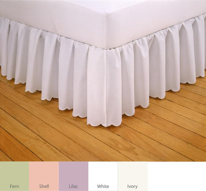 Embroidered Scalloped 18 Inch Drop Bedskirt Free Shipping On Orders Over 45 Overstock Com