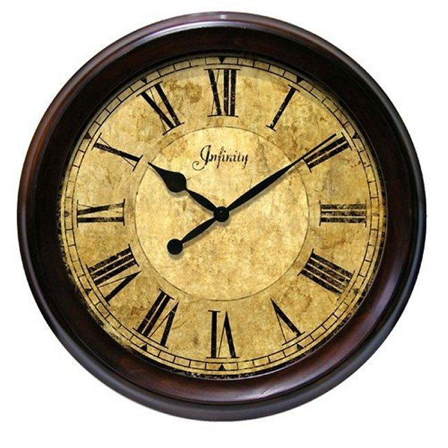 Infinity Yesteryear 20 Inch Solid Wood Wall Clock Free