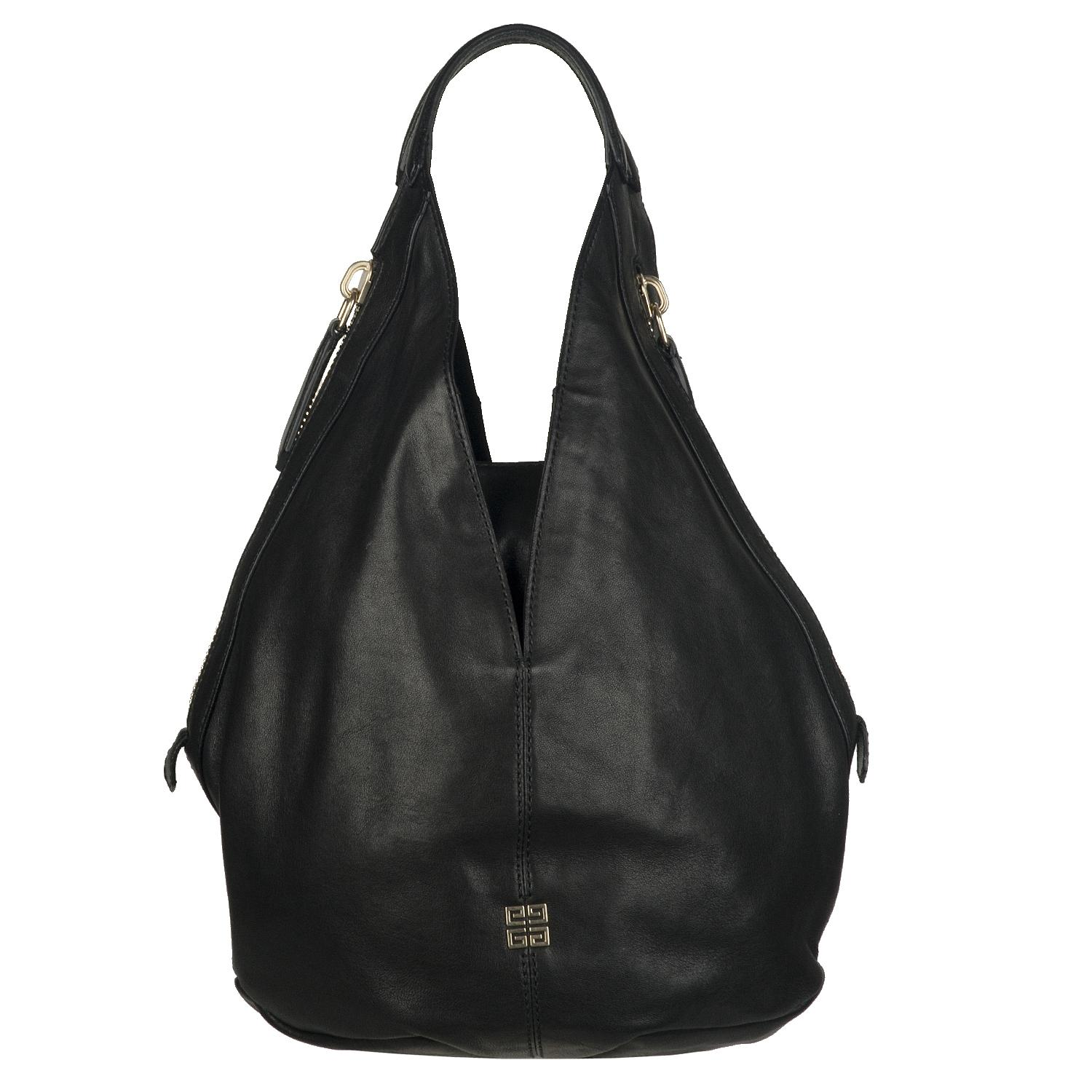 Givenchy Tinhan Small Black Leather Hobo Bag Free Shipping