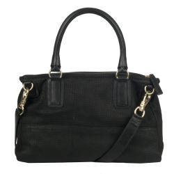 Givenchy 'Pandora' Large Black Textured Leather Satchel