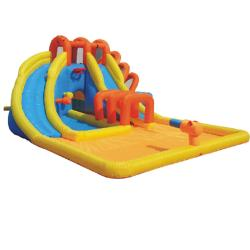 KidWise Summer Blast Water Park Inflatable Bounce House