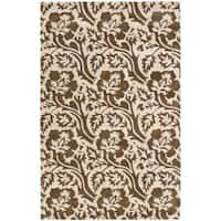 Safavieh Handmade Soho Floral Brown/Ivory New Zealand Wool Rug - 5' x 8'