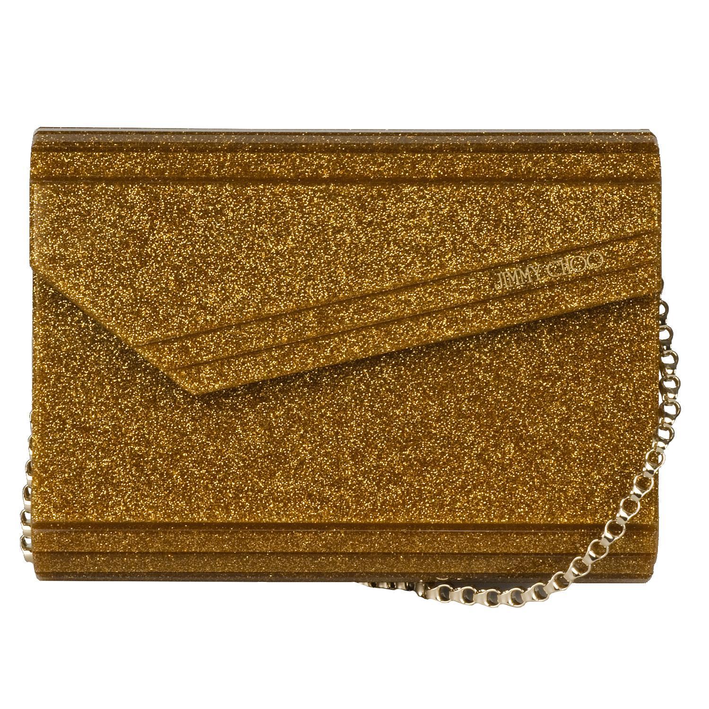 Jimmy Choo 'Candy' Gold Glitter Clutch
