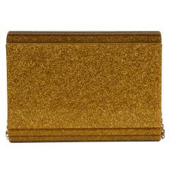 Jimmy Choo 'Candy' Gold Glitter Clutch - Thumbnail 2