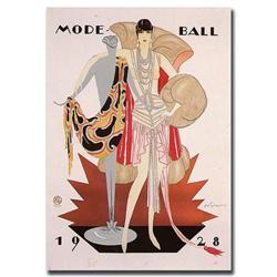 Mode Ball 1928-Gallery Wrapped 18X24 Canvas Art