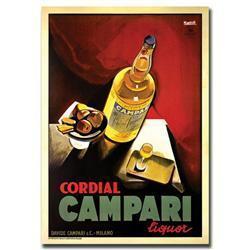 Cordial Campari Liquor-Gallery Wrapped 18X24