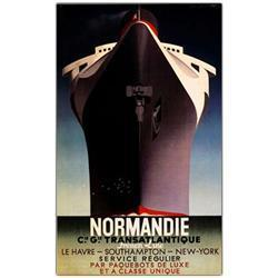 Normandie By Adolphe Cassandre-Framed 28X47