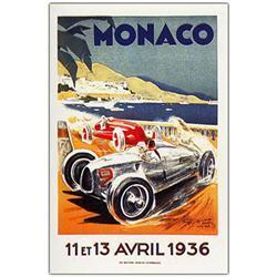 Monaco 13 Avril 1936 By George Ham-18X24 Canvas