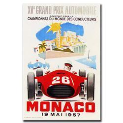Monaco 1957 Ii By George Ham-Gallery Wrapped