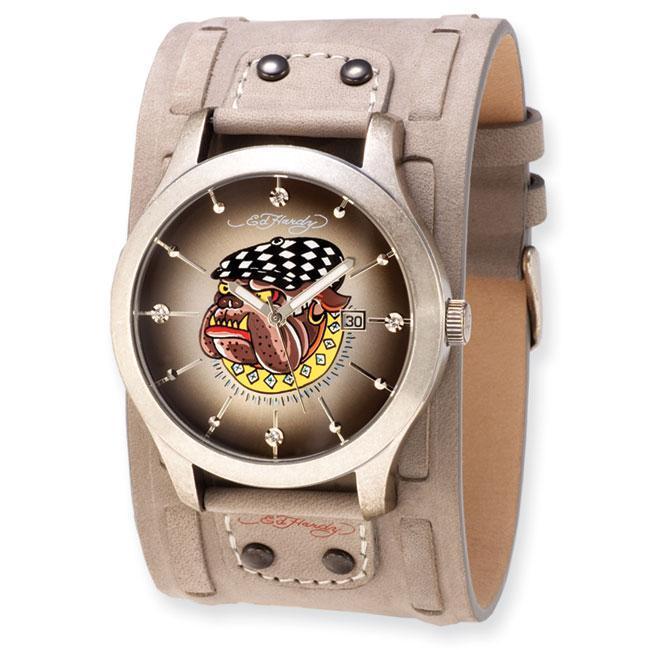 524c8c92a Shop Versil Ed Hardy Men's Gladiator Bulldog Watch - Free Shipping Today -  Overstock - 5894195