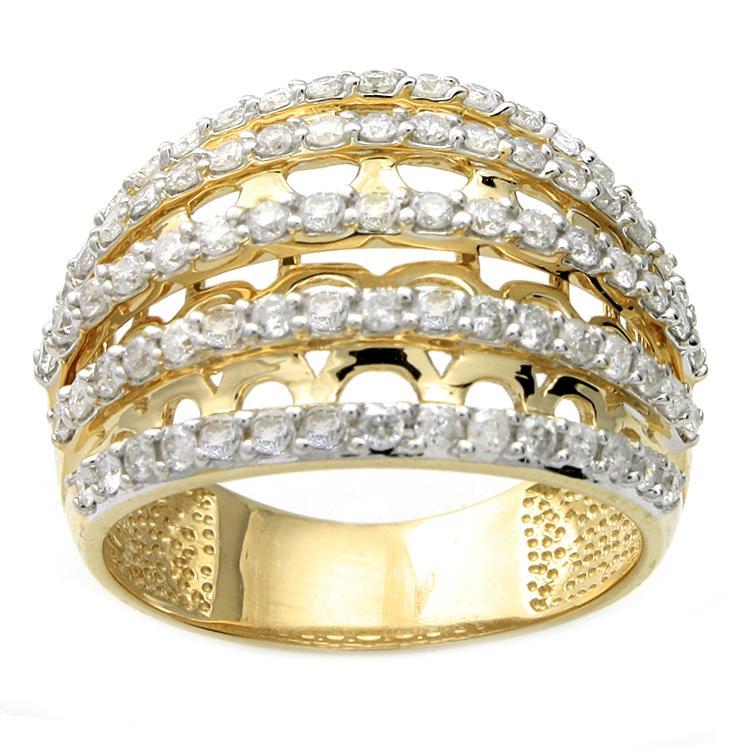 Beverly Hills Charm 14k Yellow Gold 1ct TDW Diamond Ring (H-I, I2)