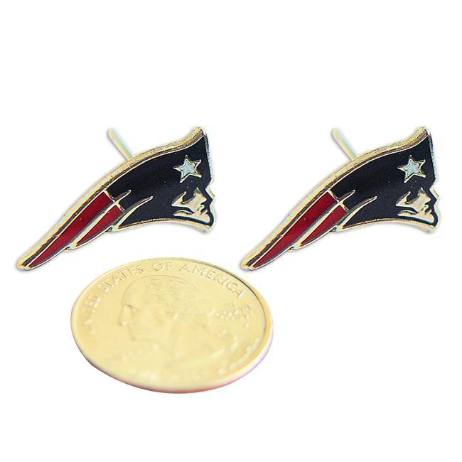 New England Patriots Stud Logo Earrings