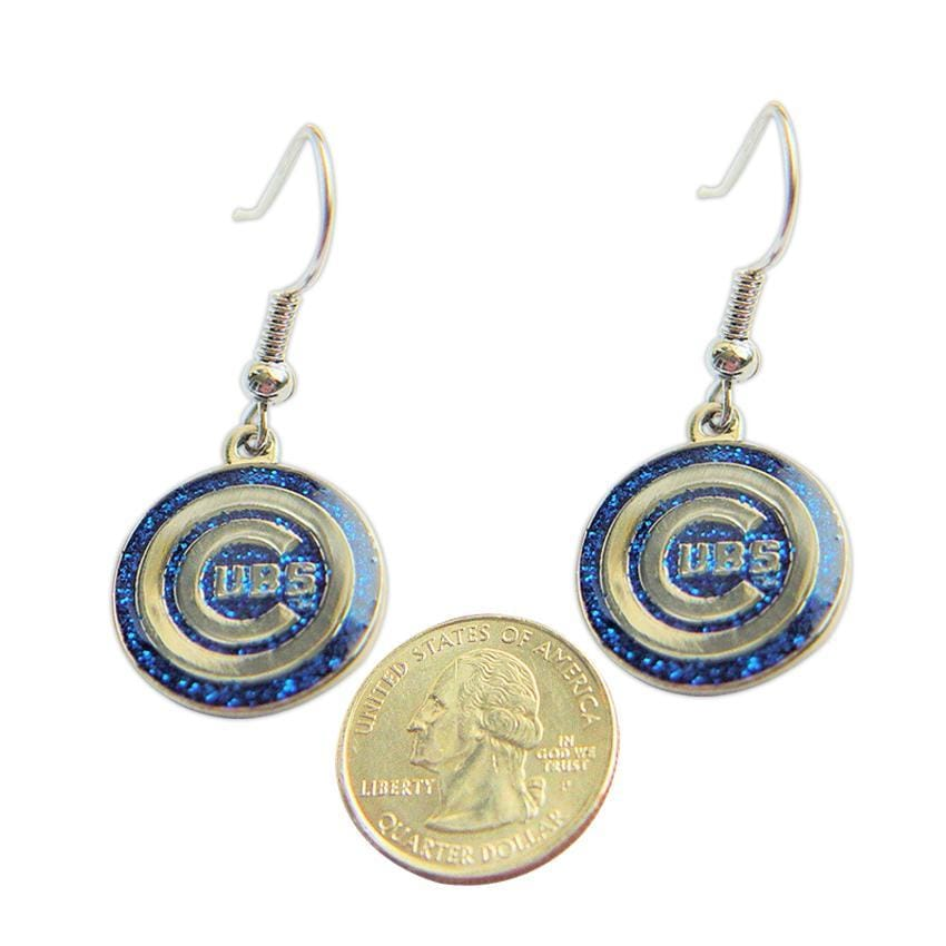 Chicago Cubs Dangle Logo Earrings