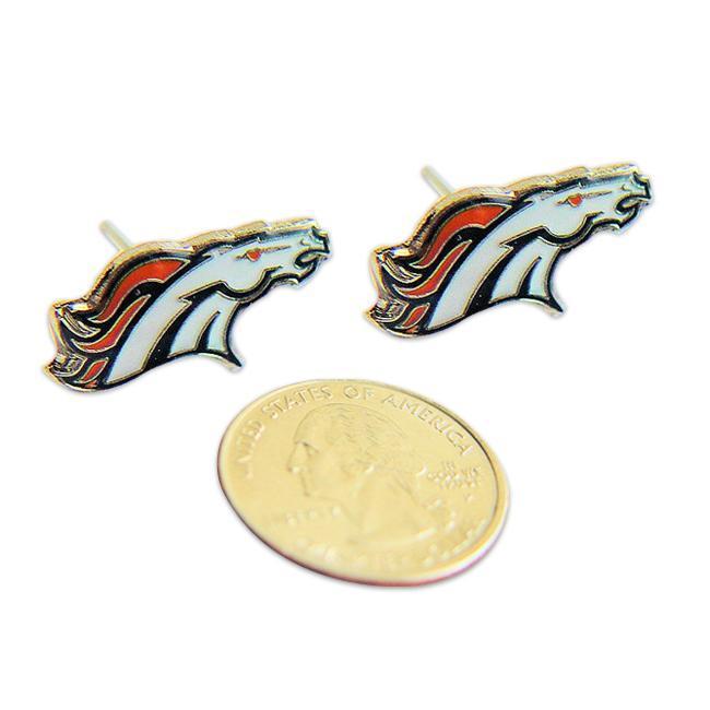 Denver Broncos Stud Logo Earrings