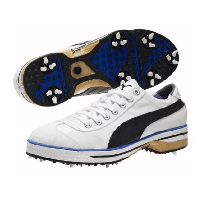 Puma Men's Club 917 White/ Black/ Dazzling Blue Golf Shoes