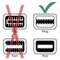White 3-in-1 Mini DisplayPort to DisplayPort/ HDMI/ DVI F Adapter