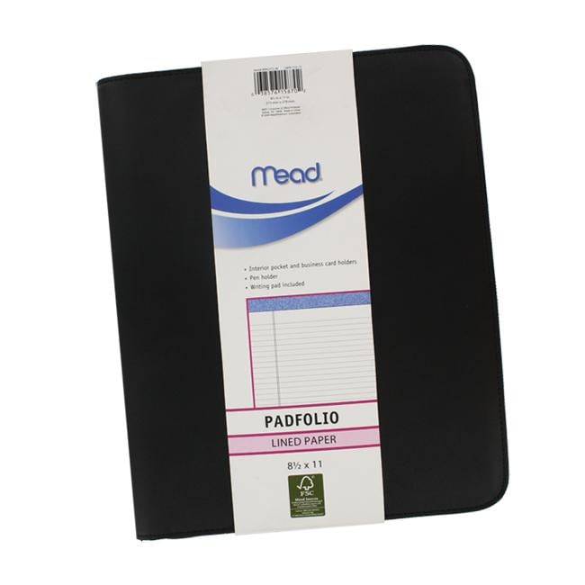 Mead 8.5x11-inch Zippered Padfolio
