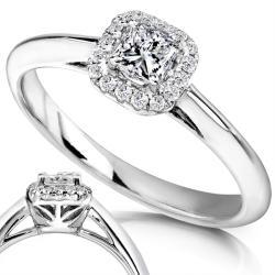Annello by Kobelli 14k White Gold 1/3ct TDW Diamond Engagement Ring (H-I, I1-I2)