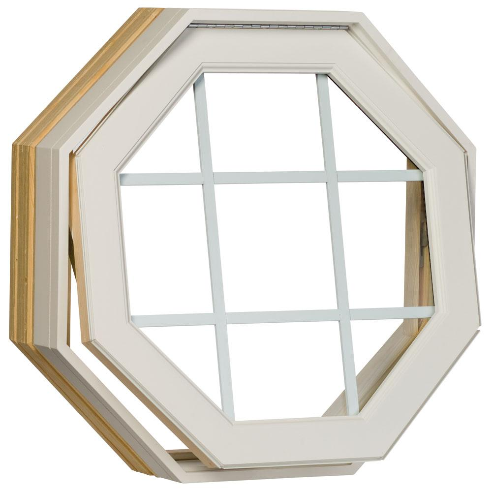 Century White Clad Operating Clear GBG Insulated Glass Octagon Window