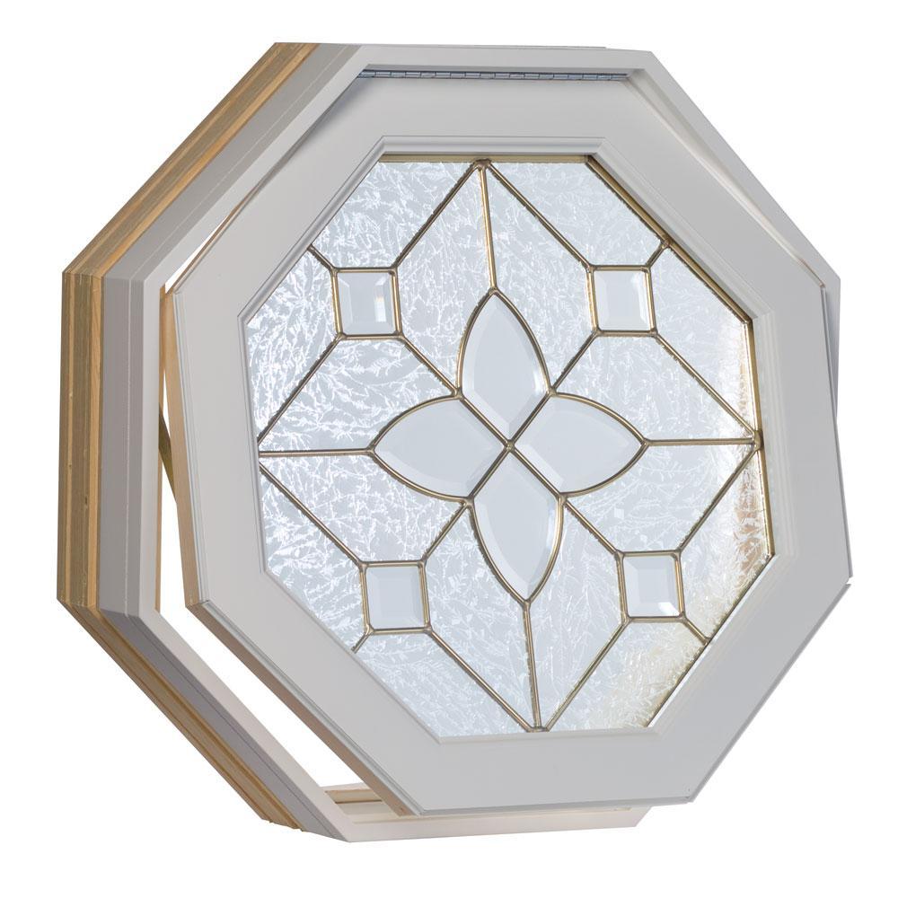 Century white clad operating window glue chip brass design octagon window free shipping today
